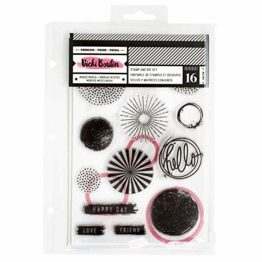 American Crafts Vicki Boutin Mixed Media Stamps and Dies Set - All the Good Things