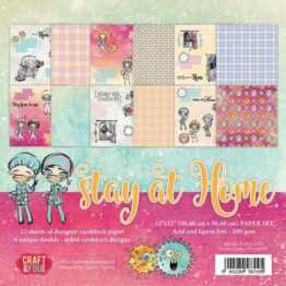 Craft&You Stay at home BIG Paper Set 12x12 12 vel CPS-SAH30