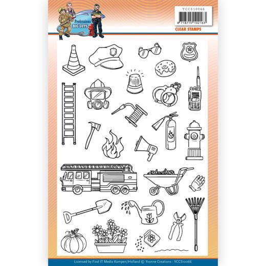 Clear Stamps Yvonne Creations Big Guys Professions
