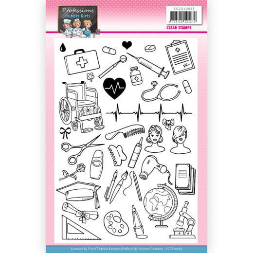Clear Stamps Yvonne Creations Bubbly Girls Professions