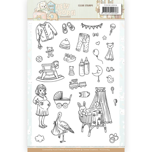 Clear Stamps Yvonne Creations Newborn
